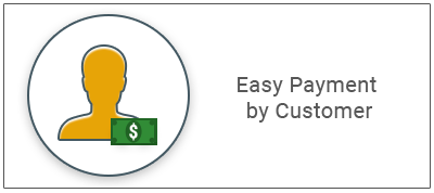 .Easy Payment by Customer