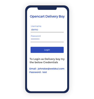 Separate Delivery Boy Login