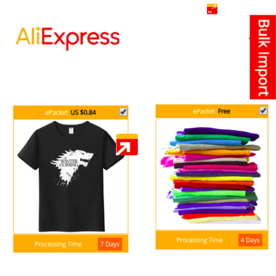 Import AliExpress Products