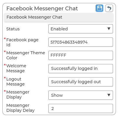 Integrating Facebook Messenger Chat