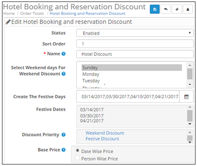 Opencart Hotel Booking Discount