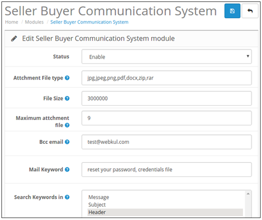 Configuration of Opencart Marketplace Buyer Seller Communication
