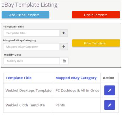 eBay Template Listing