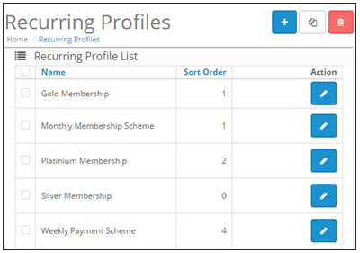 Opencart Marketplace Recurring Profile