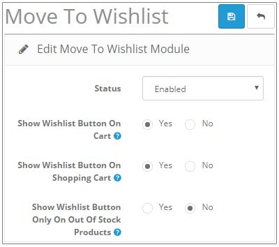 Move To Wishlist - Admin Configuration