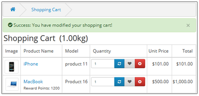 Move To Wishlist On Shopping Cart Page