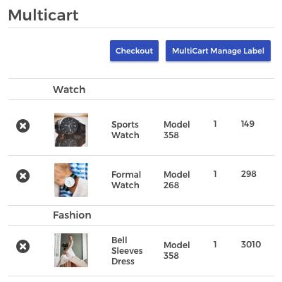 Manage Multicart- Customer End
