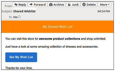 Sharing the Wishlists