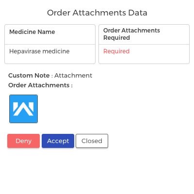 View Order Attachments