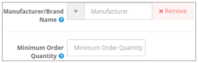 Price Rule on the basis of Manufacturers/ Brand Names and Min Quantity :