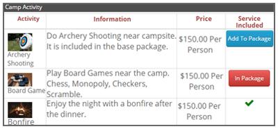 Camp & Adventure Activities