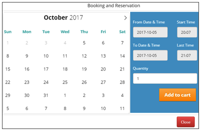 Customer Time-Based Booking: