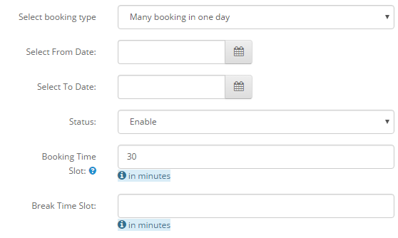 Booking Types
