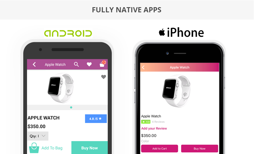 Fully Native Apps For Both Apple App Store And Google Play Store