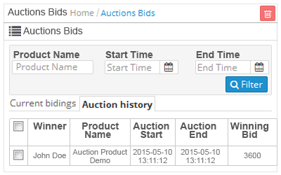 auction bid