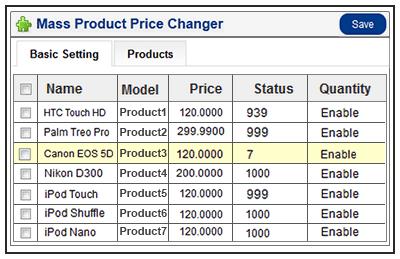bulk price update grid