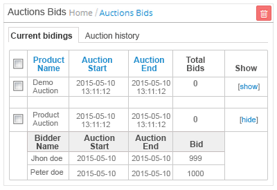 manage auction