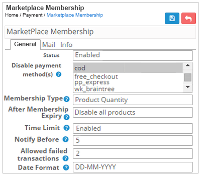 marketplace membership