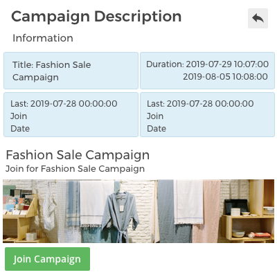 Easy to Join the Campaign - Seller End