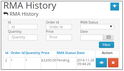 Opencart RMA Admin Menu