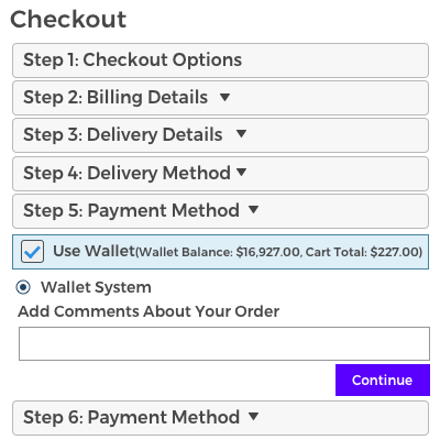 Payment through Wallet System