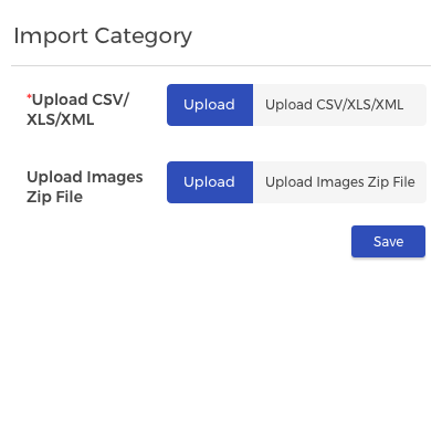 Import Bulk Categories: