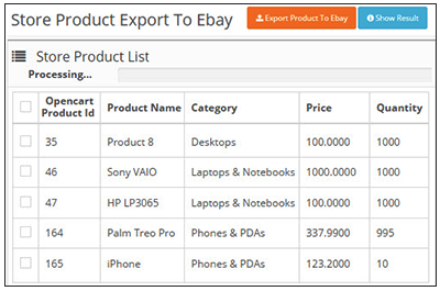 Export to eBay