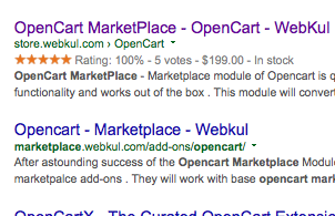 Opencart Rich Snippet and parameters