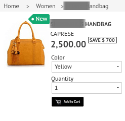 Shopify Product Label Front View