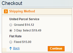 split cart shipping method