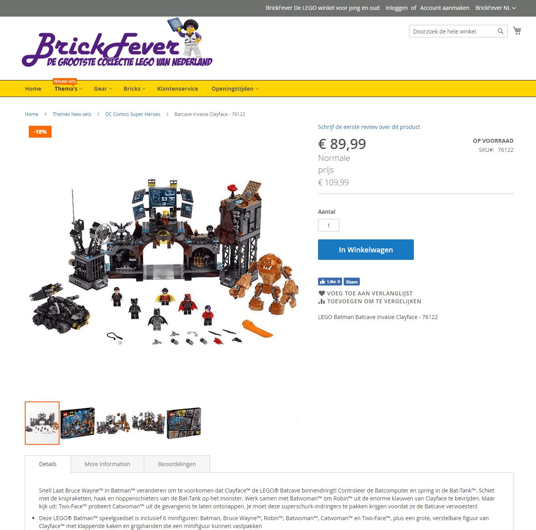 BrickFever Online Shop