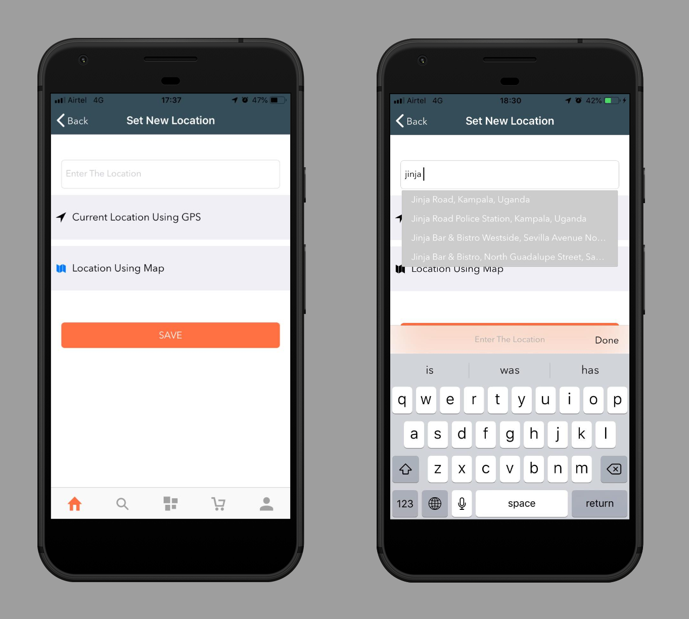 Hyperlocal System - Mobile App