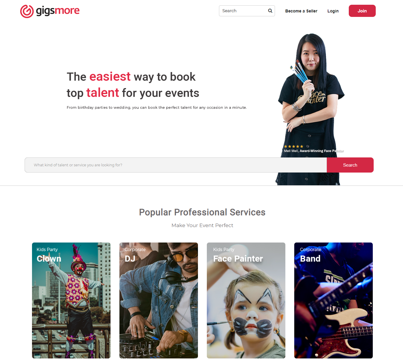 Malaysian Gigs Booking Marketplace