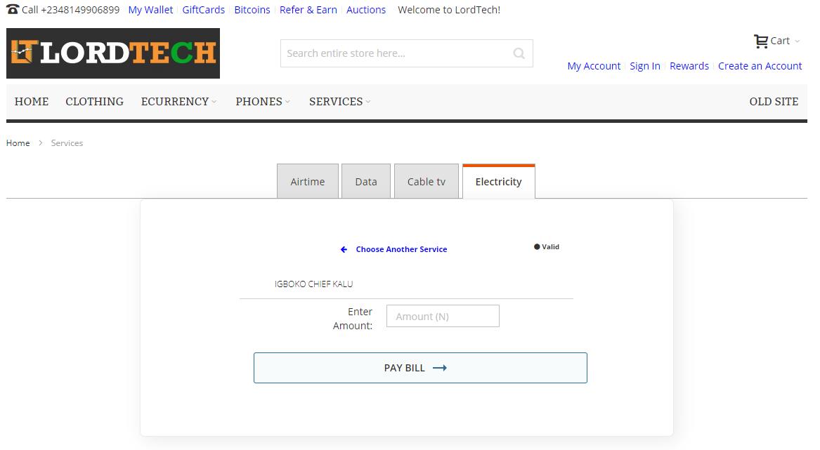 Validate Customer Account