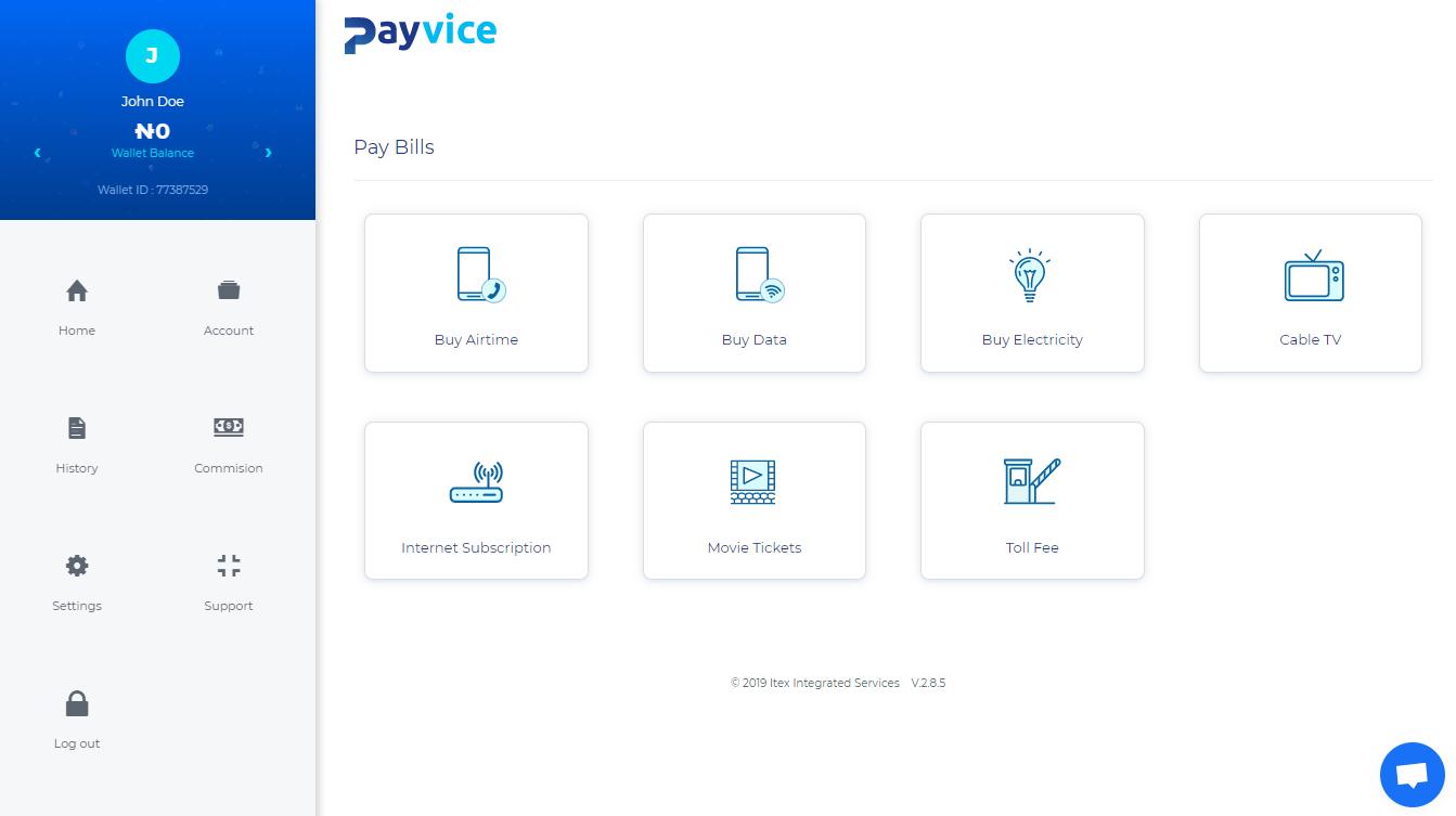 Payvice API Integration