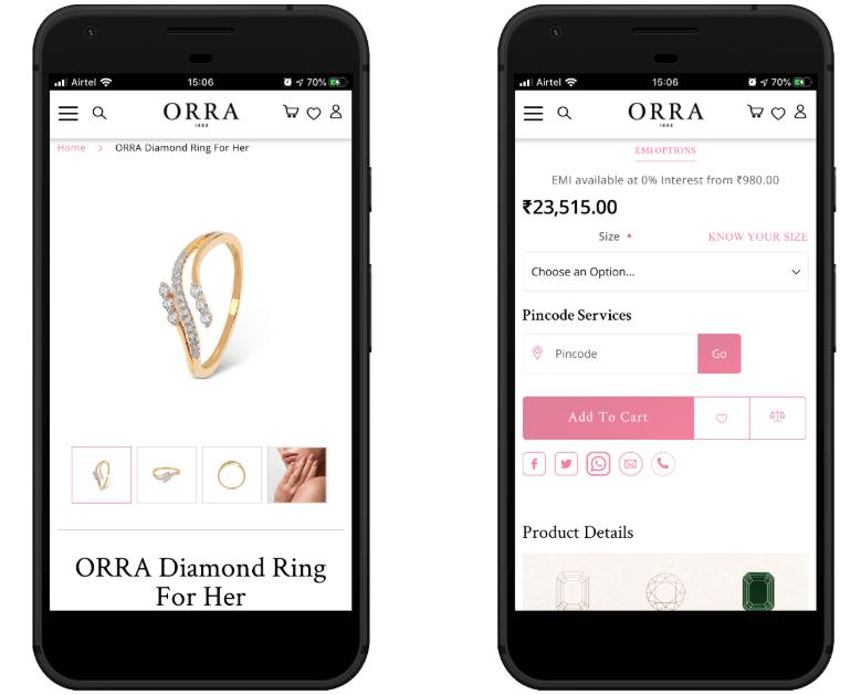 Orra PWA Product Page
