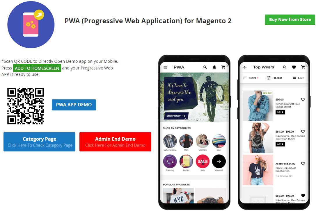 Magento 2 Progressive Web Application