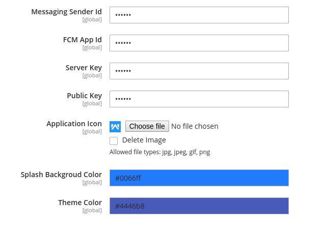 Magento 2 Progressive Web Application - Color Settings