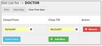Flexible Exclude Days and Slot Rules: