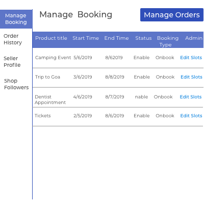 Booking Management