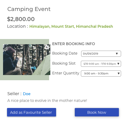 One Booking for Multiple Days