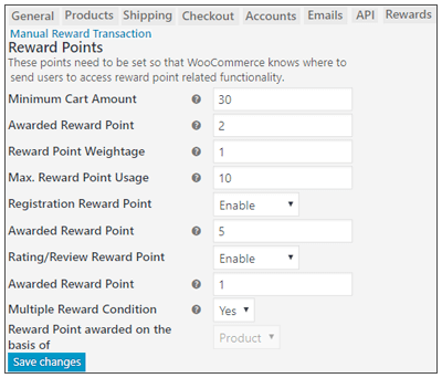 Reward System – Admin Management