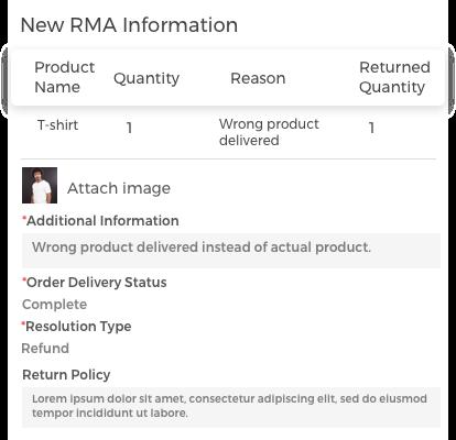 Generate New RMA