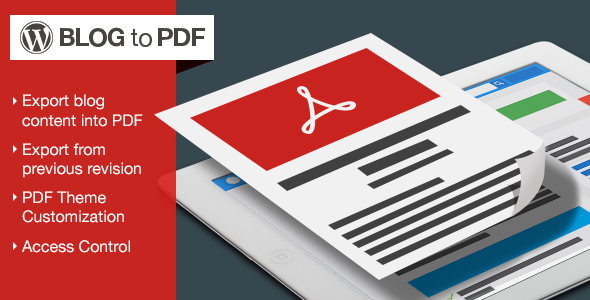 WordPress Blog To PDF
