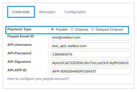 Odoo Marketplace Paypal Adaptive Extension