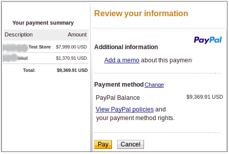 Marketplace Paypal Adaptive Payment - Parallel Method