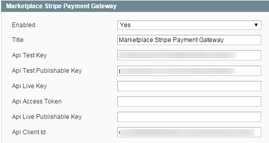 Stripe payment Admin management