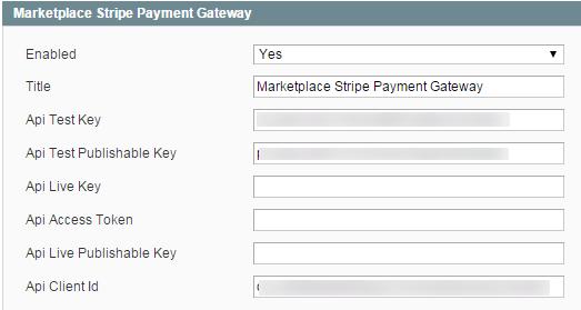 Stripe payment Admin management