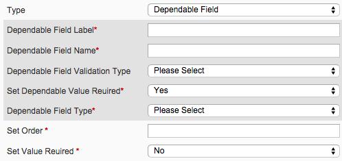 custom registration fields dependable attribute