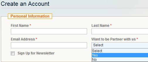 Customer Partner Signup